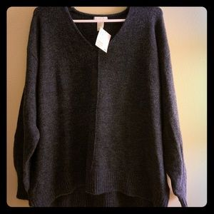 Dark blue H & M oversized sweater
